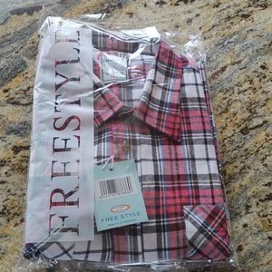 FREESTYLE  flennel plaid men Shirt